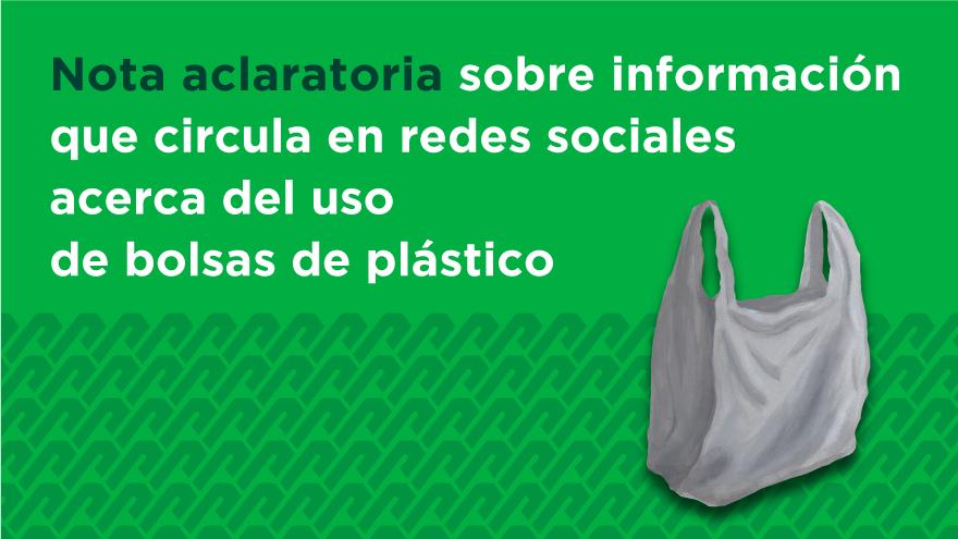 Tarjeta Informativa sobre el uso de bolsas de plástico